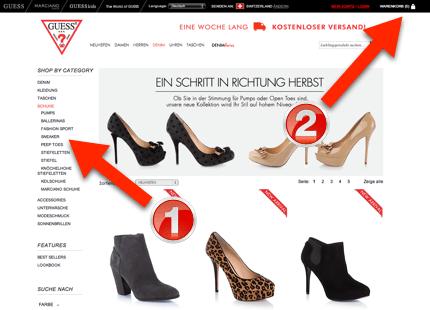 guess-schuhe-online-shop-schweiz-schritt-1