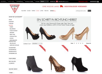 guess schuhe online shop schweiz online shop schweiz finden. Black Bedroom Furniture Sets. Home Design Ideas